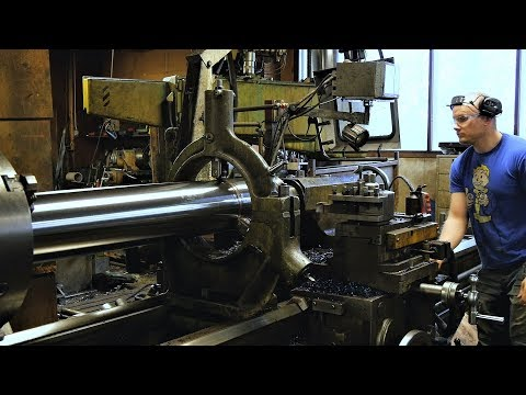 Machining Giant Pneumatic Cylinder For Our Youtube Machines