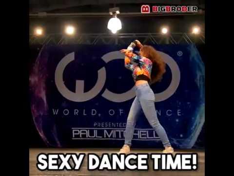 Mujer bailando Dustep, sorprendente!
