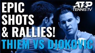 Epic Rallies from Unbelievable Thiem v Djokovic Match! | ATP Finals 2019