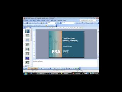 XIV European Banking Authority XBRL Workshop (30th March 2011)