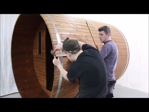 видео: Как построить баню бочку?