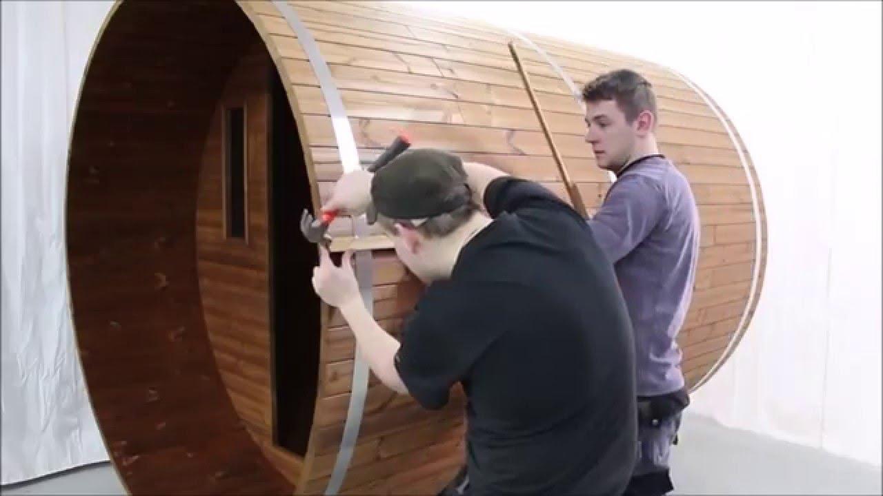 Как построить баню бочку своими руками