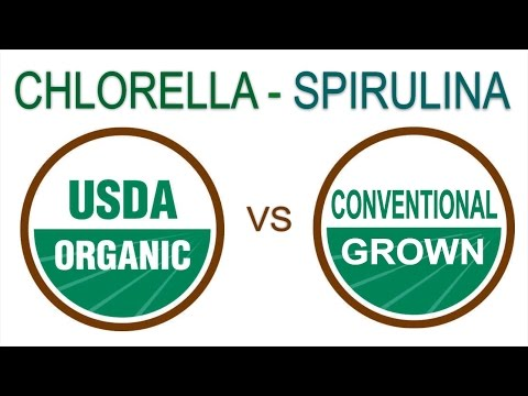 Organic vs Conventionally Grown Chlorella/Spirulina - Which