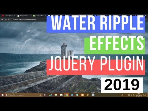 #jQuery Water Ripples Effects using jQuery Plugin In Hindi