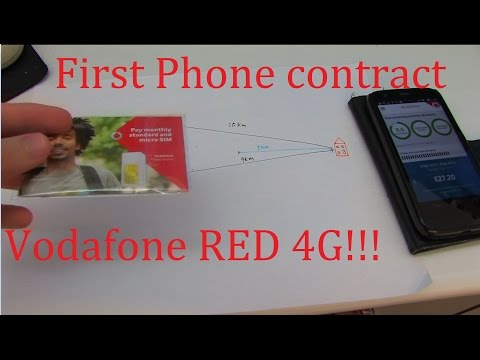 First mobile contract | Vodafone RED 4G SIM only
