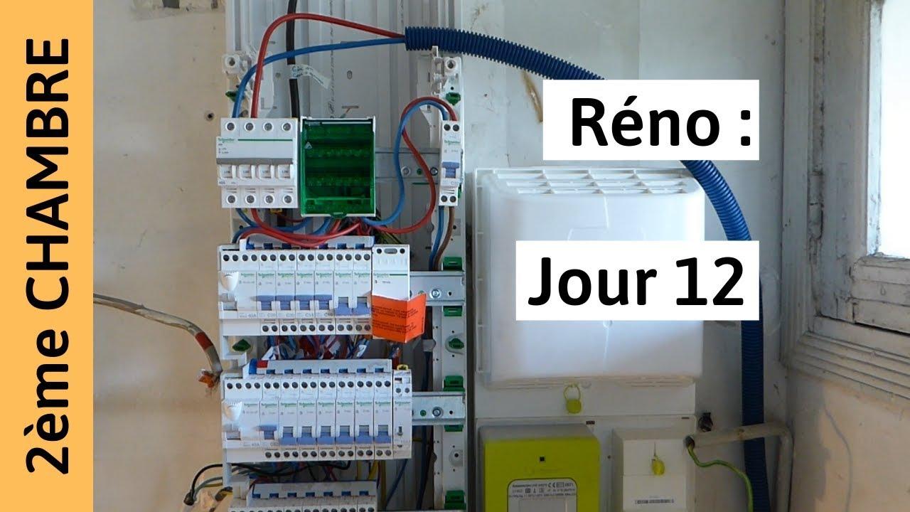 Reno Chambre 2 Jour 12 Tableau Electrique Passage Au Triphase Youtube