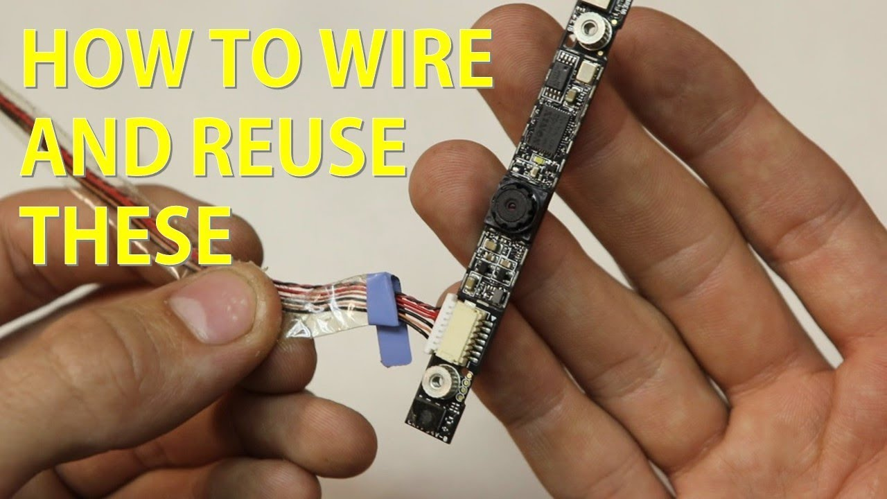 wiring a laptop webcam [ 1280 x 720 Pixel ]