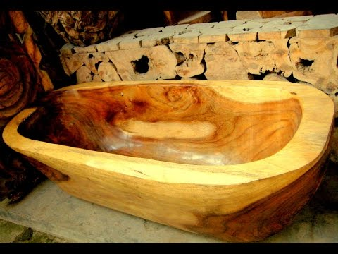 WOOD BATHTUB - YouTube