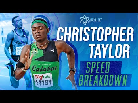 Christopher Taylor 100M Sprint Breakdown