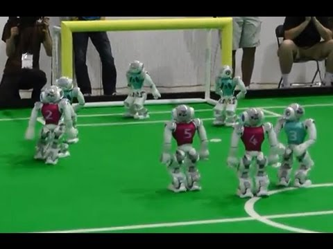Playing Robot Soccer With The Humanoid Nao Robots On Dutch