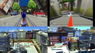 sonic adventure 2 sonic generations city escape comparison