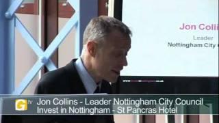 Councillor Jon Collins, Nottingham City Council, Invest in Nottingham Day London 2011 -