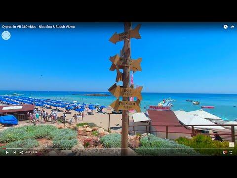 Cyprus in VR 360 video - Nice Sea & Beach Views