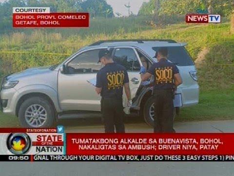 Tatakbong aklalde sa Buenavista, Bohol, nakaligtas sa ambush