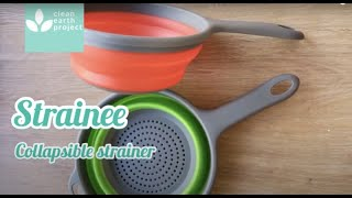 STRAINEE Silicone Collapsible Strainer space saver kitchenware