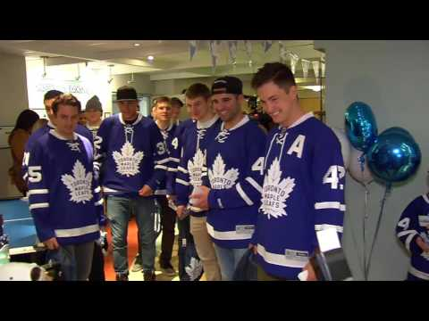 Toronto Maple Leafs visit Sick Kids Hospital - December 5, 2016