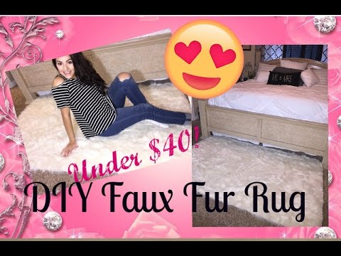 DIY Faux Fur Rug Under $40 from Jo-Ann's