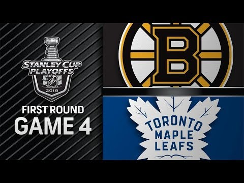 Boston Bruins vs Toronto Maple Leafs – Apr. 19, 2018 | Game 4 | Stanley Cup 2018. Обзор