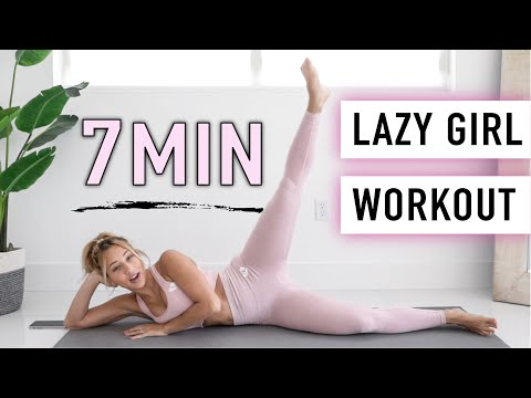 LAZY GIRL Full Body WORKOUT - 7 min. (NO JUMPING)