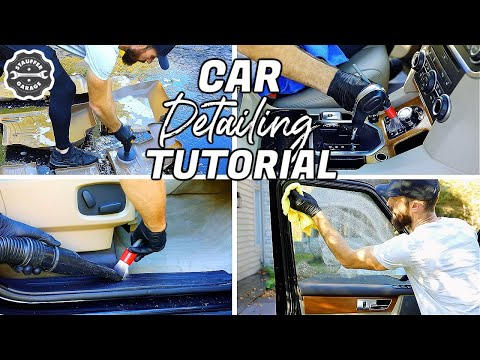 Car Detailing Power Hour Challenge | Deep Cleaning Car Interior
