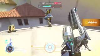 Overwatch Fnatic IDDQD as Tracer and McCree on Hollywood With 45 Elims