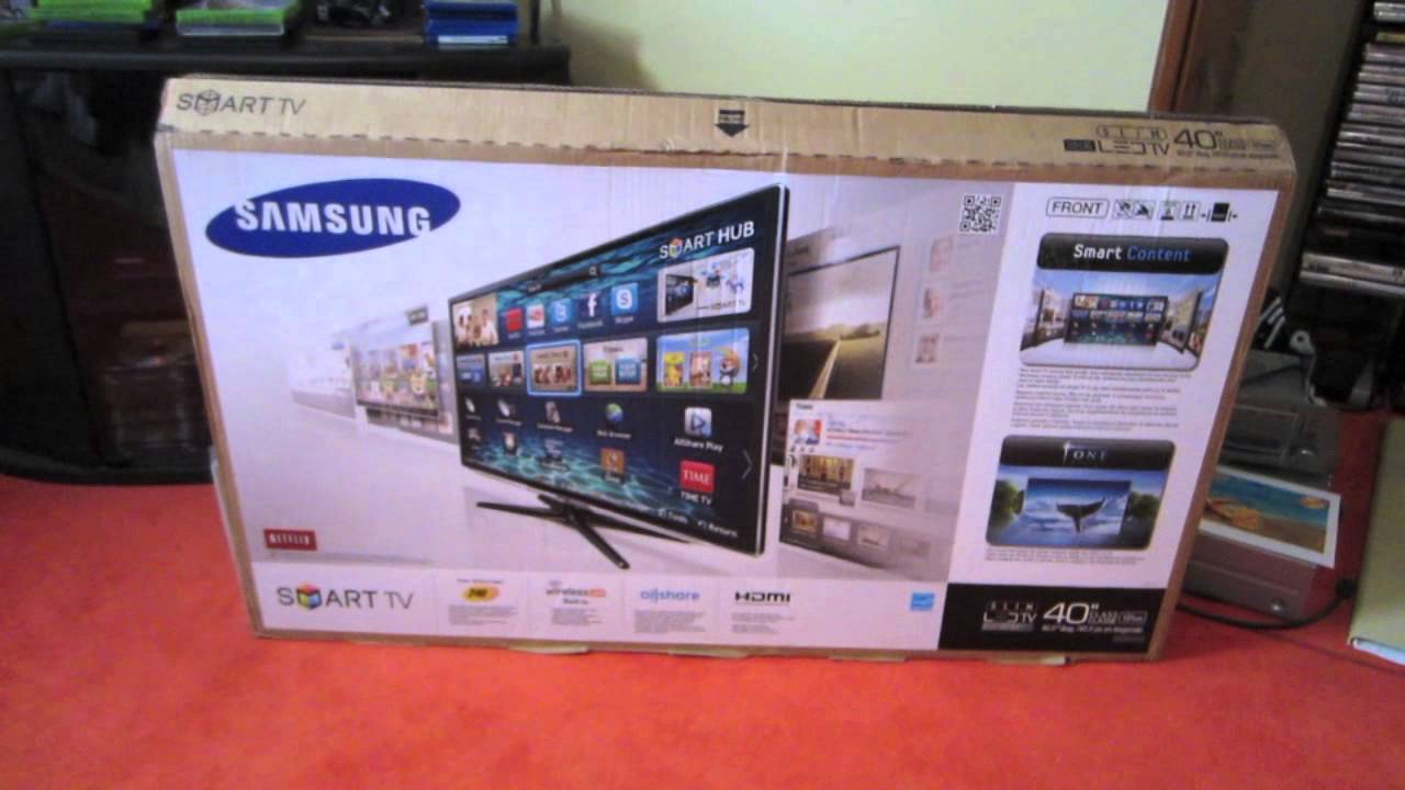 40 Inch Smart Tv Deals Samsung 40 Led 1080p Smart Tv Unboxing Review