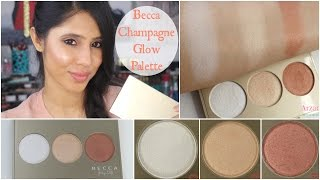 NEW Becca Champagne Glow Palette | Demo + Swatches + First Impressions