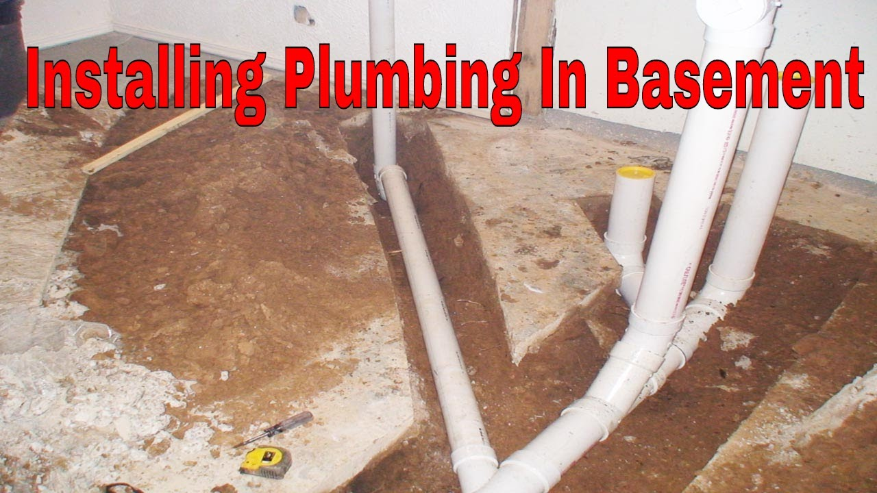 installing plumbing in basement for a new bathroom youtube rh youtube com
