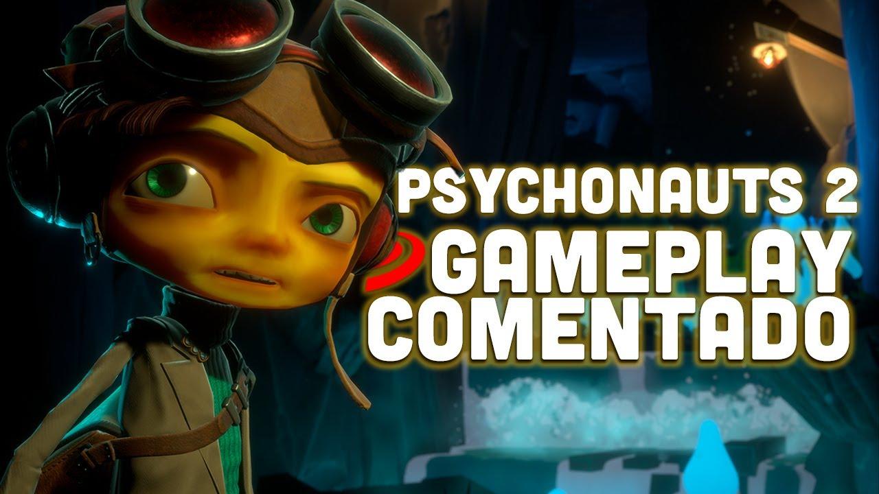 PSYCHONAUTS 2 GAMEPLAY COMENTADO la AVENTURA que quiere SORPRENDER con su HUMOR, acción y LOCURAS