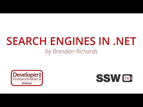 Search Engines in .NET | Brendan Richards at DDD Brisbane 2016