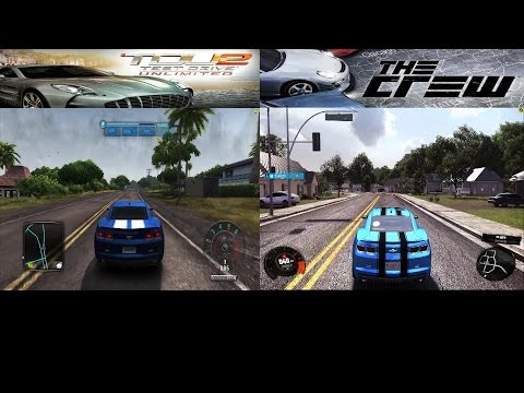 Test Drive Unlimited 2 vs The Crew - Comparison - 60FPS