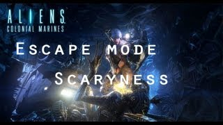 aliens colonial marines escape mode gameplay scaryness apone and hudson