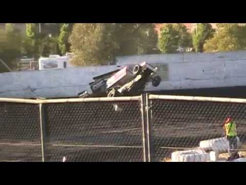 Sprint Car Challenge Tour Crashes @ Petaluma Speedway 7/3/17