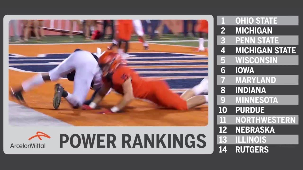 B1G Power Rankings - Post-Week 4 | James Laurinaitis | Big Ten Football