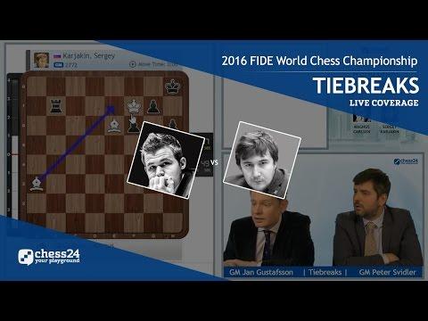 2016 FIDE World Chess Championship - Magnus Carlsen vs. Sergey Karjakin - Tiebreaks