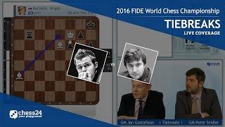 2016 fide world chess championship magnus carlsen vs sergey karjakin tiebreaks