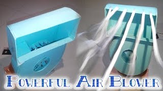 How to make Powerful Air Blower | Fan | Cooler | This Summer | Battery powered | Very easy
