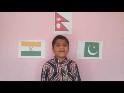National Anthem of India, Pakistan and Nepal cover by 11 years old Nepalese boy Sandarv Aryal