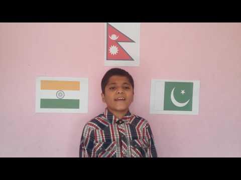 National Anthem of India, Pakistan and Nepal   11 years old Nepalese boy Sandarv Aryal