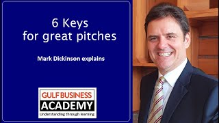 6 Keys to great pitches