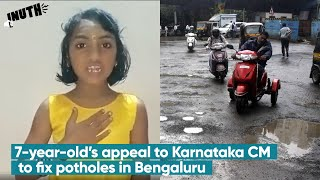7 Year Old's Appeal To Karnataka CM To Fix Potholes in Bengaluru