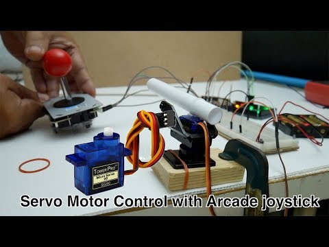 Servo Motor Control With Arcade Joystick