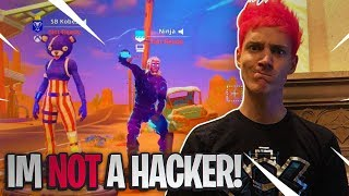 NINJA HACKS FORTNITE & SHOWS ME THE LEAKED SKINS! (Galaxy, Panda Team Leader, Whiteout!)