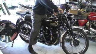 Around The Block On Mike S 49 HRD Vincent Black Shadow