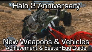 Halo 2 Anniversary - New Weapons & Vehicles - Gameplay - Red Sword, Heretic Banshee, Gungoose...