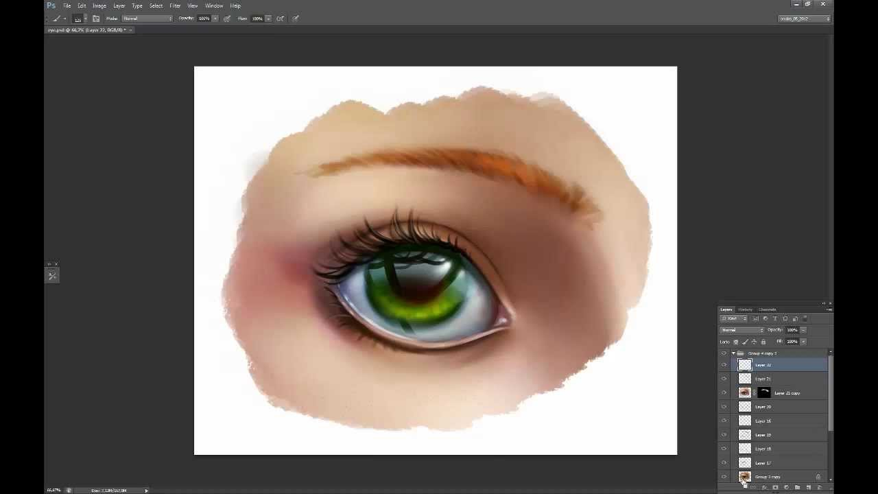 Painting glossy eye tutorial youtube ccuart Gallery