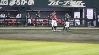 2017/04/19 丸亀市民球場 香川オリーブガイナーズ対高知ファイティング...