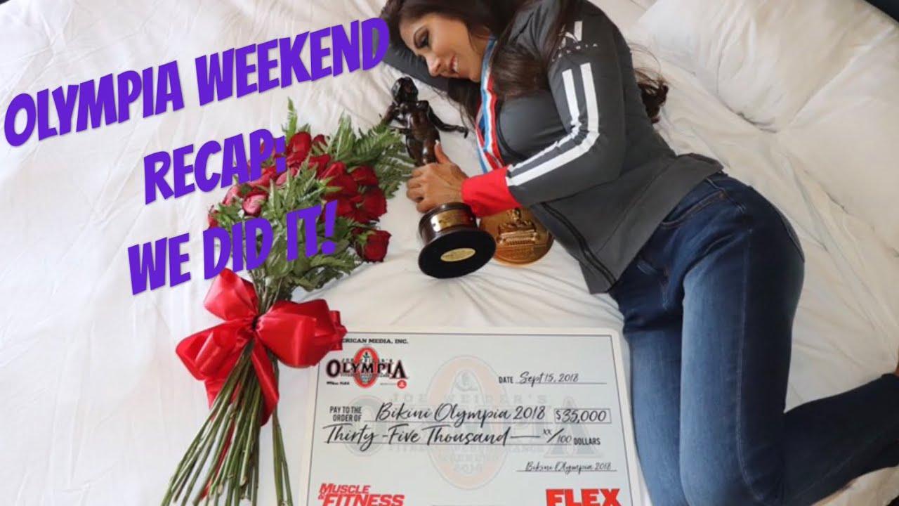 Angelica Cepeda olympia weekend recap: we did it! two time ms. olympia bikini