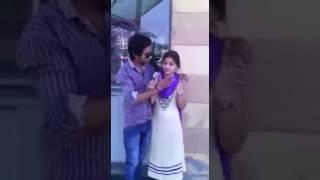 Gf bf kissing romance video