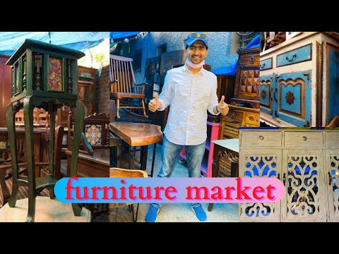 Cheapest furniture market in delhi | Vintage and Rustic furniture | Amar Colony